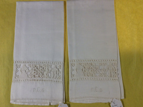 Pair of linen guest towels