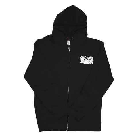 Black Logo Zip Up Hoodie