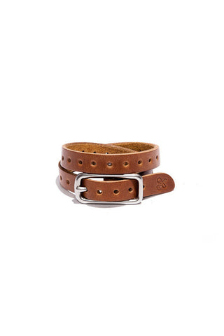 BILLYKIRK No. 260 Double Wrap Leather Cuff with Holes