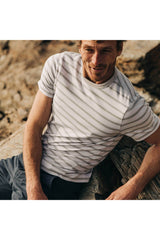 TAYLOR STITCH Graphite Stripe Organic Cotton Tee