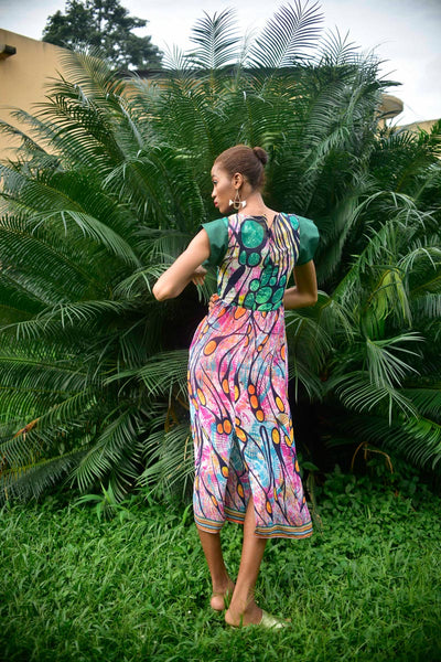 Fatou Green Maxi Dress