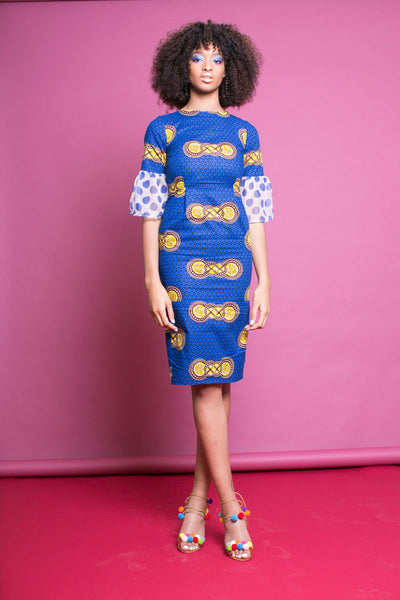 Nina Silk Mix Dress