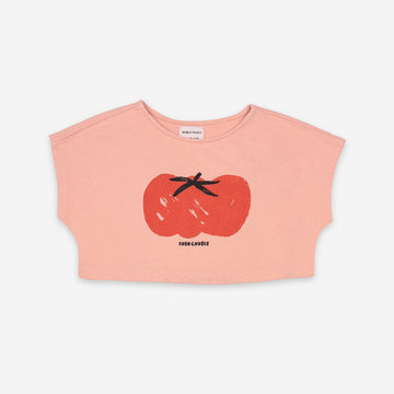 TOMATO CROPPED SWEATSHIRT