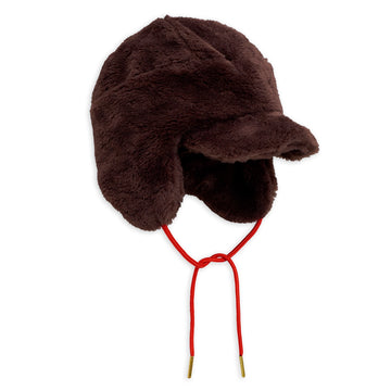 FAUX FUR CAP - BROWN