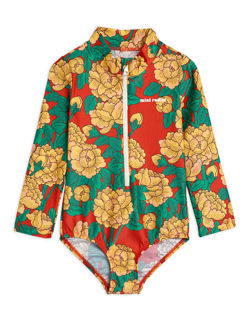 PEONIES LONG SLEEVE SWIMSUIT