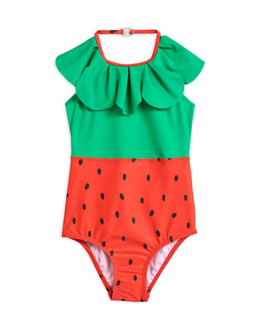 STRAWBERRY HALTERNECK UV SWIMSUIT