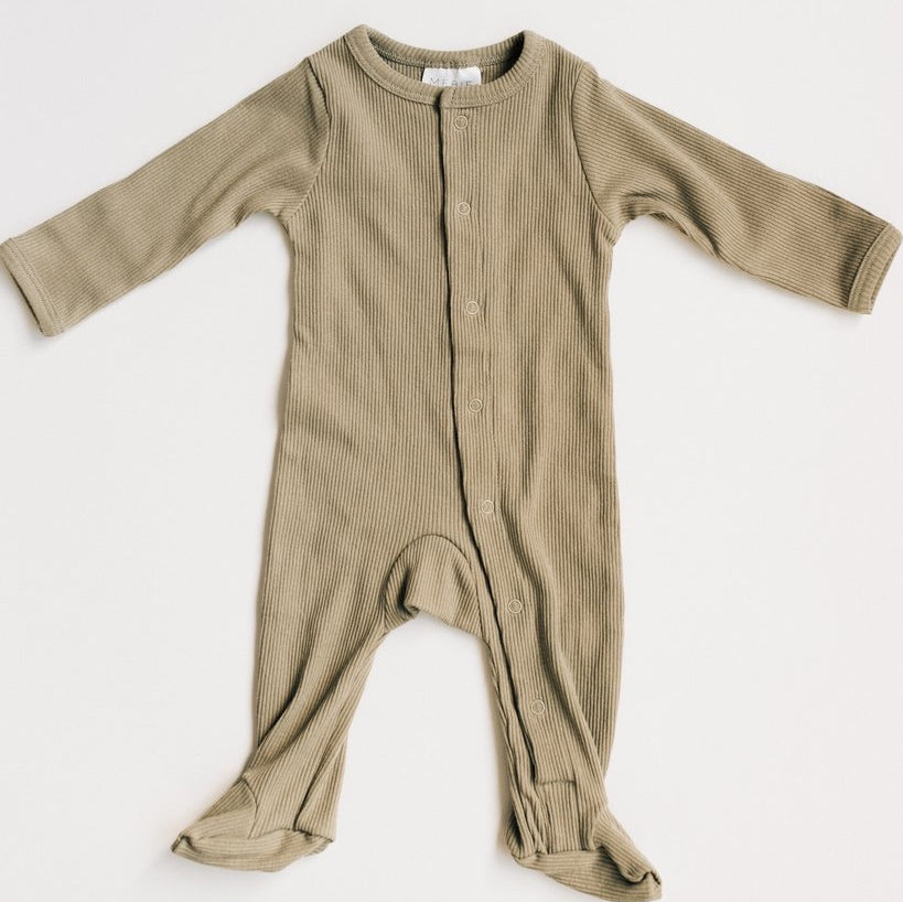 SAGEBRUSH RIBBED FOOTED ONE PIECE