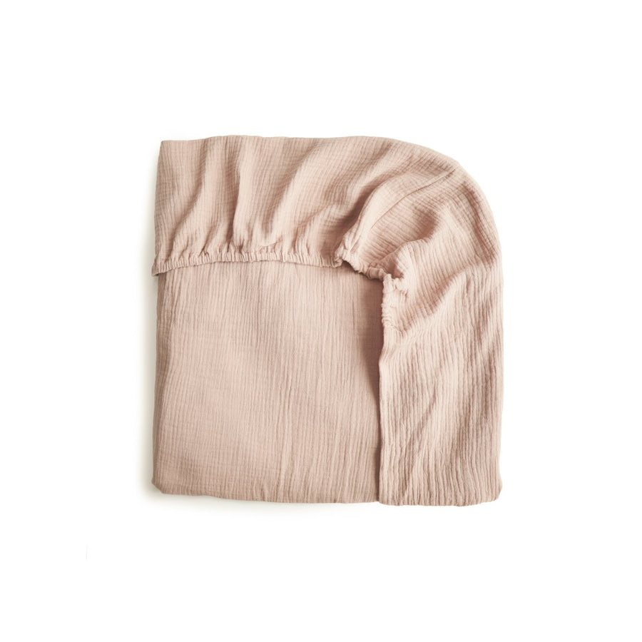 EXTRA SOFT MUSLIN CRIB SHEET⎜BLUSH