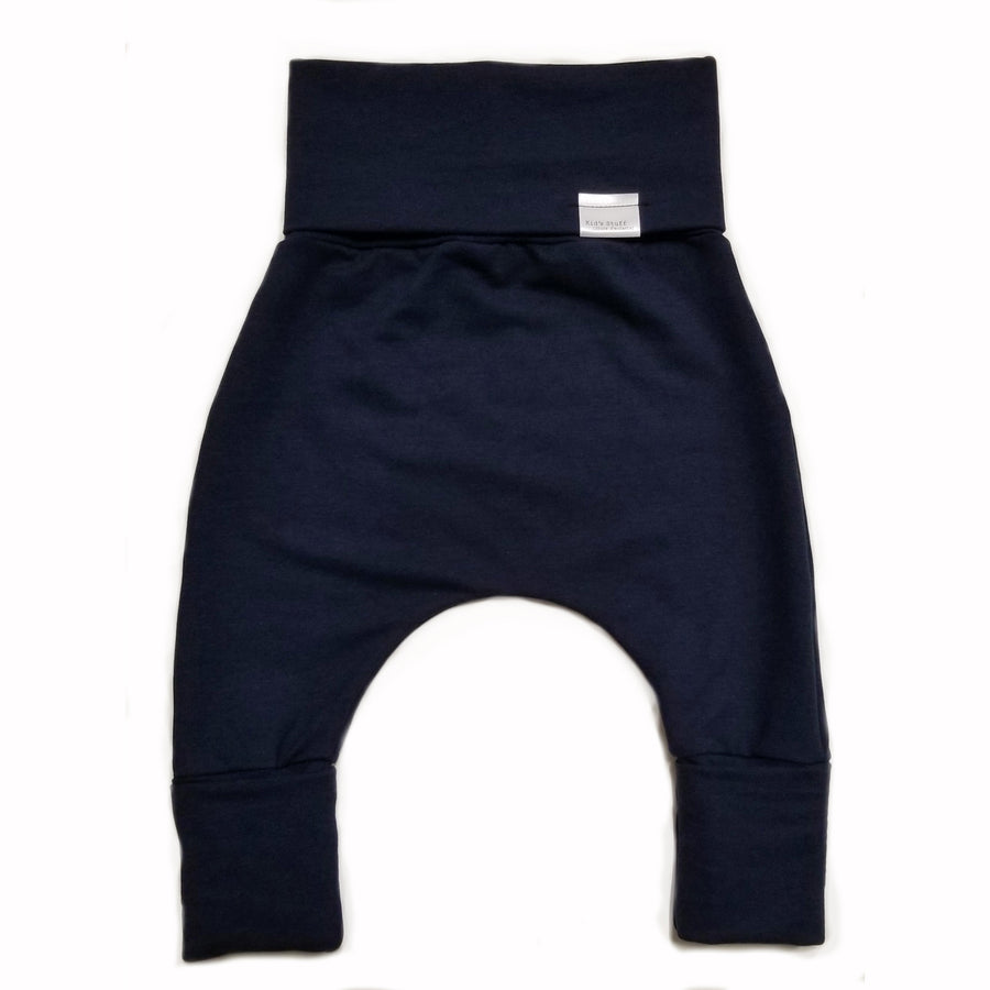 FRENCH TERRY GROW WITH ME PANTS - NAVY