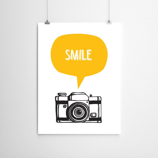 Meenyminy Smile Poster - Yellow
