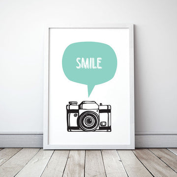 Meenyminy Smile Poster - Mint