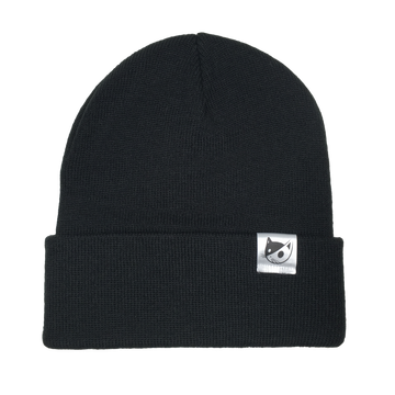 KNITTED TOQUE - BLACK
