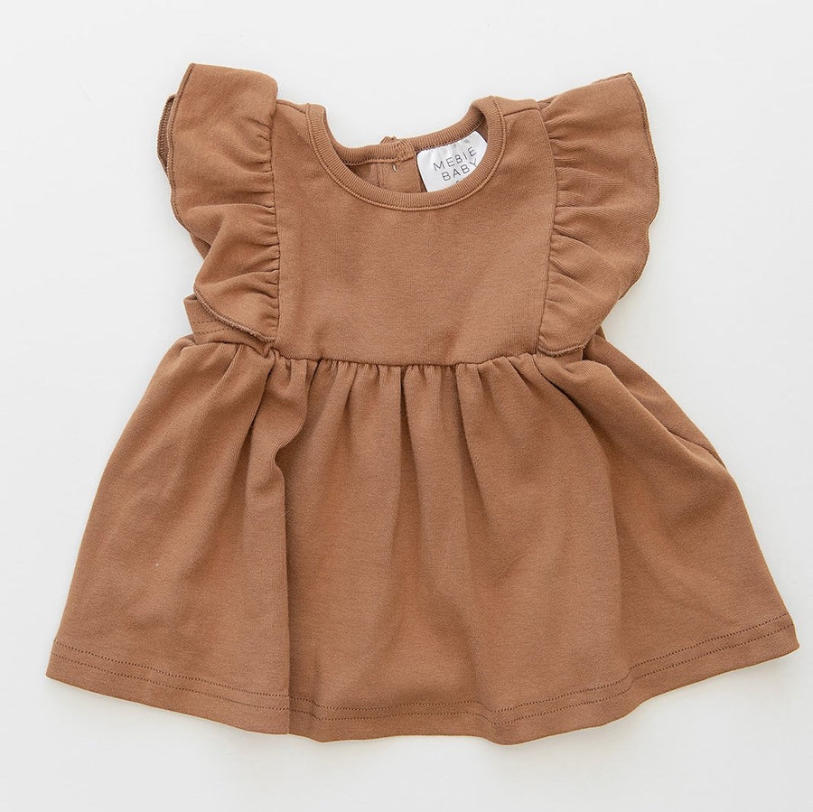 RUFFLE DRESS - HONEY