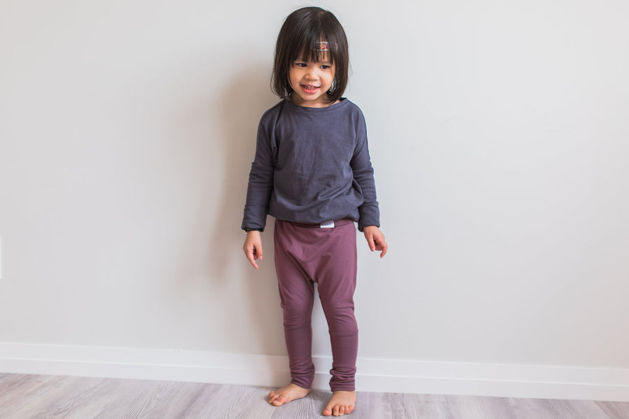 GROW WITH ME PANTS - ROSE BROWN