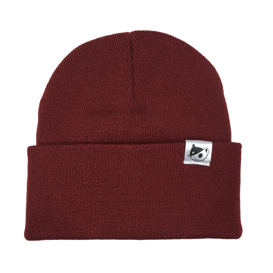 KNITTED TOQUE - BURGUNDY