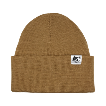 KNITTED TOQUE - CAMEL