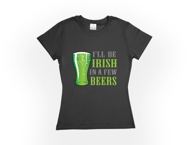WOMENS ST. PADDY'S DAY TEES - XTRA SIZES