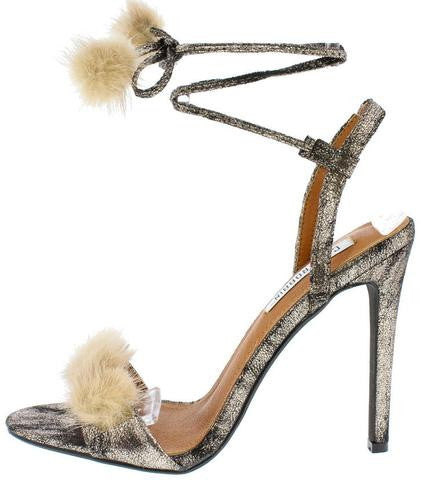 Fur Golden Pumps