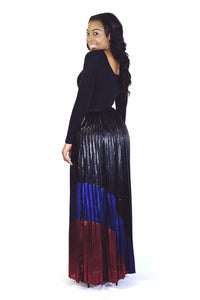 Pleated Glam Maxi