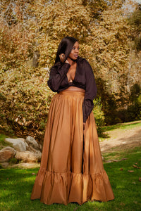Golden Maxi Skirt