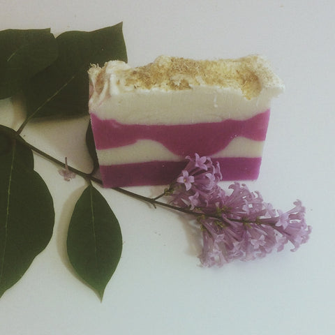 Lilac & Loofah Handmade Scented Soap Cold Process Homemade Soap