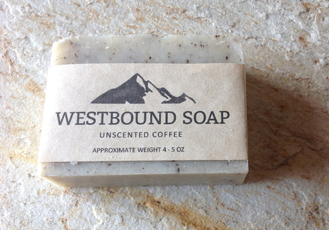 Unscented Coffee Cold Process Soap Natural Luxury Soap