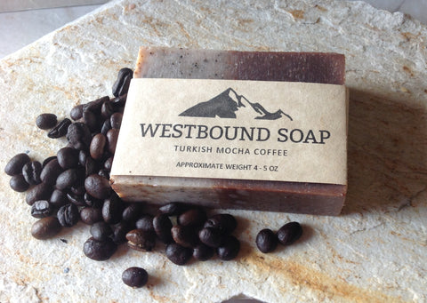 Turkish Mocha Coffee Soap Luxury Exfoliating Handmade Scented Cold Process Soap