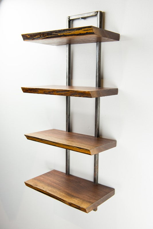 Reclaimed Black Walnut Wood Wall Shelf