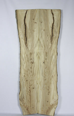 Live Edge Book Match Slab: Figured Elm Wood