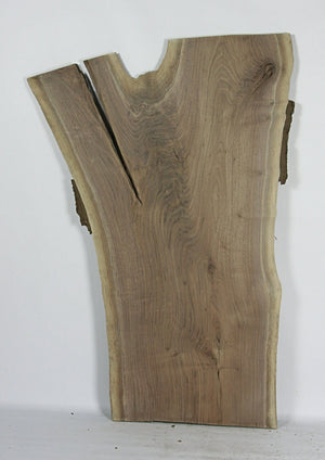 Live Edge Hardwood Slab: Black Walnut Crotch
