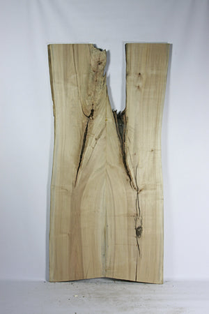 Live Edge Book Match Slab: Figured Silver Maple