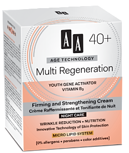 AA Cosmetics (Age Technology 40+) Firming and Strengthening Night Cream Multi Regeneration