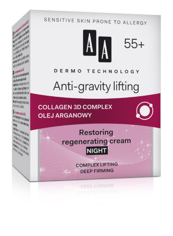 AA Cosmetics Anti-Gravity Lifting (55+) Night Cream