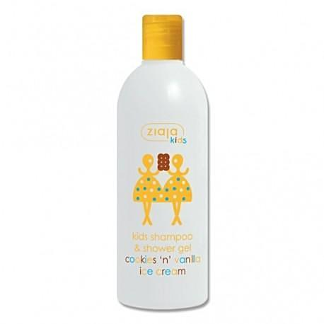 Kids shampoo & shower gel with cookies 'n' vanilla fragrance