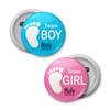 Par de botones Boy & Girl para Gender Reveal (2 piezas)