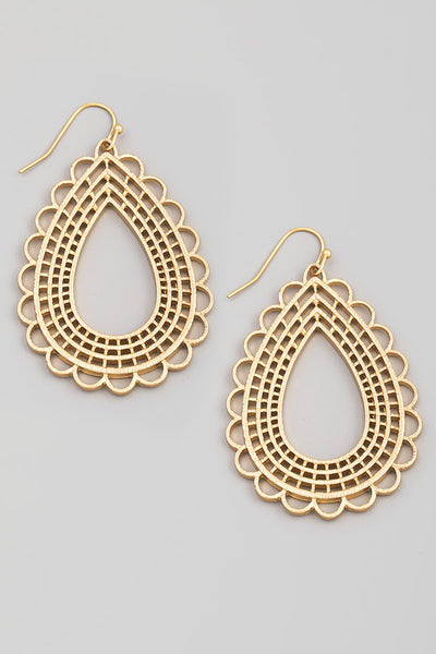 *The Lori Gold Teardrop Cut Out Earrings*