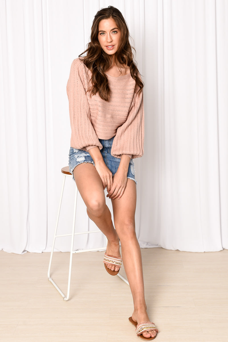 LOLLIE KNIT - NUDE PINK