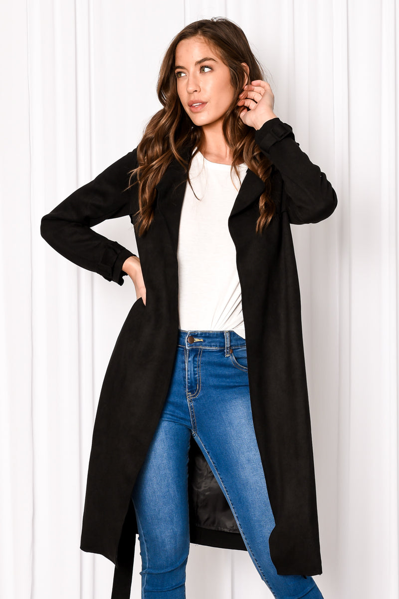 BRAXTON TRENCH COAT - BLACK