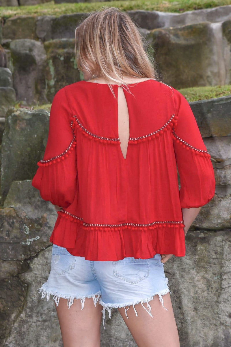 SIERRA TOP - RED