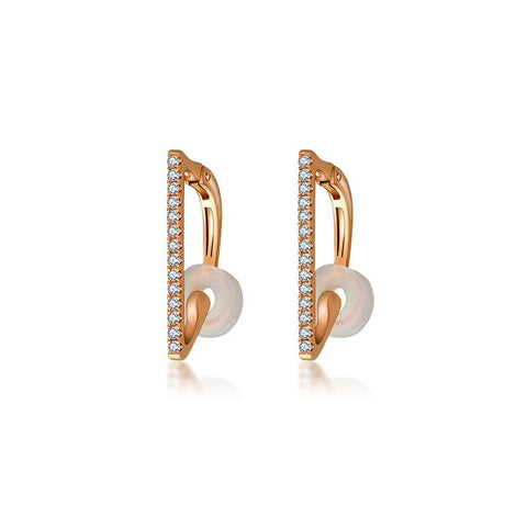 Vertical Line Diamond Ear Cuff