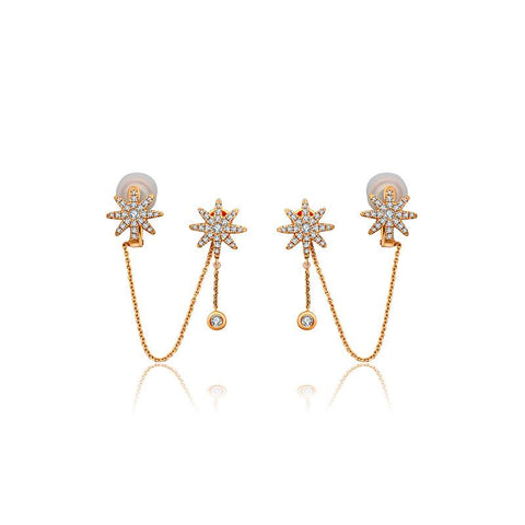 Star Shape Diamond Ear Cuff & Earring