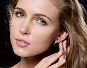 18k Gold Petite Fleur Earring - Genevieve Collection