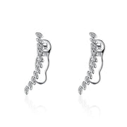 18k Gold Marquise Long Earring - Genevieve Collection