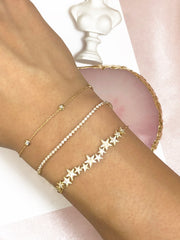 LIMITED 20 SETS* 18k Gold Diamond 0.5 CT Half Tennis Bracelet  Buy 1 Get 1 Free Bundle ( Total 2 bracelets) - Genevieve Collection