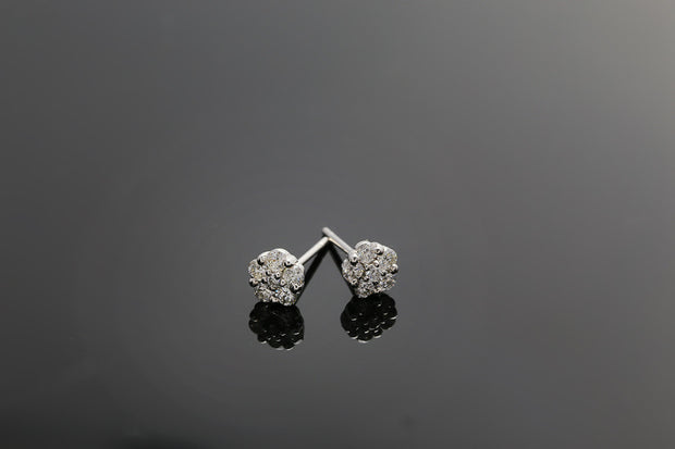 18k Gold Starry Night Diamond Ear Jacket Earring - Genevieve Collection