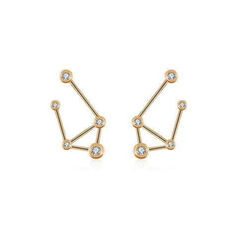 Libra Diamond Earring