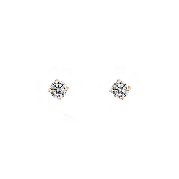 18k Gold Diamond Stud Earring - Genevieve Collection