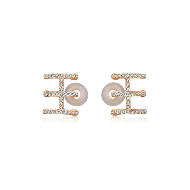 18k Gold Triple Line Diamond Ear Cuff - Genevieve Collection