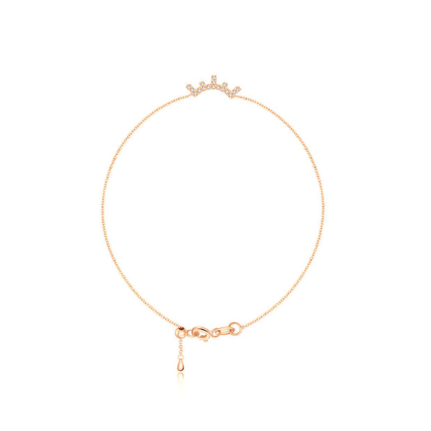 18k Gold Eyelash Shape Diamond Bracelet - Genevieve Collection