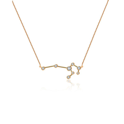 18k Gold Leo Diamond Necklace - Genevieve Collection